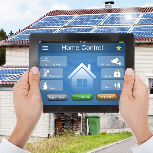 Home Control System On A Digital Tablet